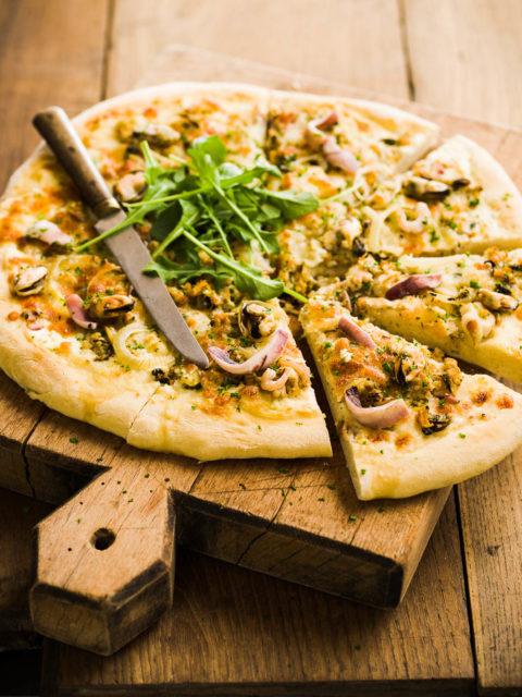 Pizza aux fruits de mer - Photo Laurent Grivet